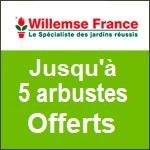 Willemse : jusqu'à 5 arbustes à fleurs Offerts !