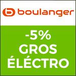 BOULANGER - 5% de remise sur le Gros Electroménager