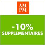 AM.PM : -10% supplémentaires sur tout le site
