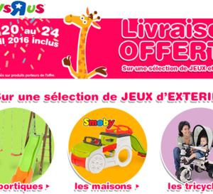 """Happy week-end chez Toys""""R""""Us : la livraison de votre colis est GRATUITE !"""