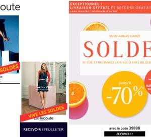 Top départ pour les SOLDES du catalogue la Redoute : déjà 70% de réduction !