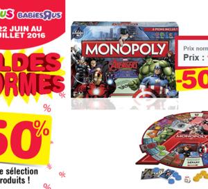 Promo du jour Toys'R'us : Monopoly Avengers à 50 % de réduction !
