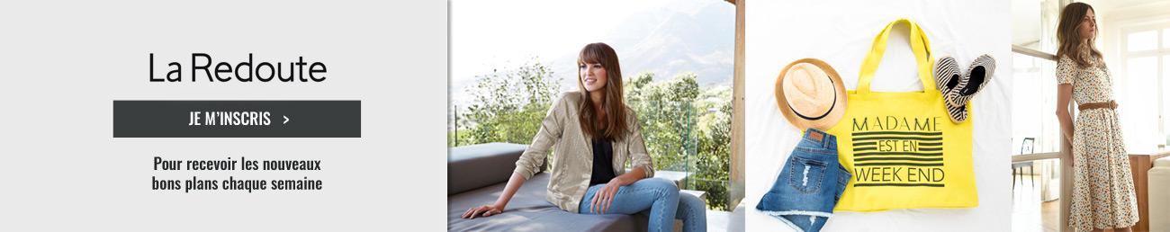 la redoute nouveaux code promo et bons plans sur recevez et feuilletez tous vos. Black Bedroom Furniture Sets. Home Design Ideas