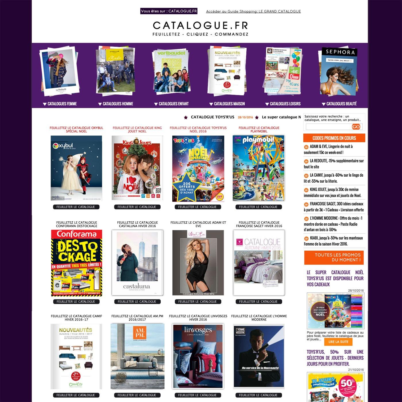 CATALOGUE.FR - Le catalogue des bonnes affaires Mode, Déco